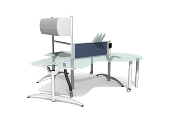 Stylish glass office desk