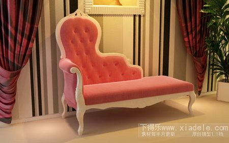 Lay the palace with the red sofa