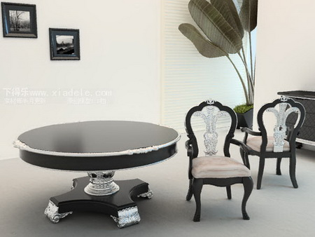 European-style combination of table and chairs-2