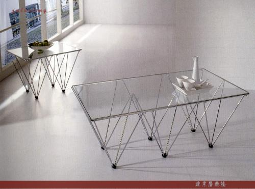 Square glass coffee table-3