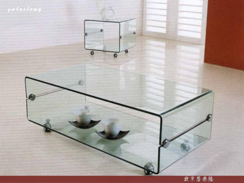 Square glass coffee table-2