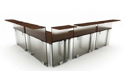 The combination of glass desk