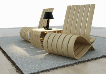 Ultra-modern style wooden chair
