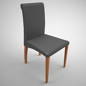 Concise wood art odd chair 3D models