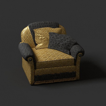 European single luxury soft sofa 3D models