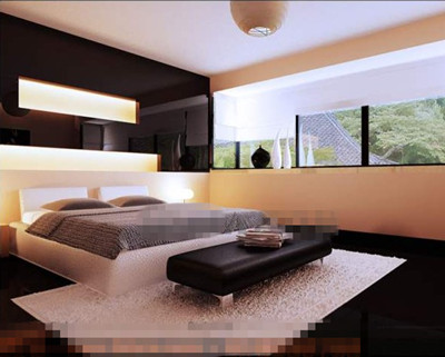 Fashion simple atmospheric bedroom