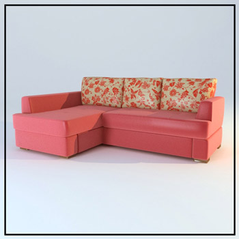 Pink warm cloth art sofa soft 3D models