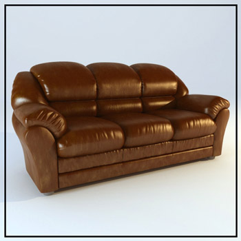 Restore ancient ways brown cortical seater sofas 3D models