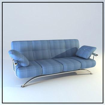 Blue fashion people sofa 3D models