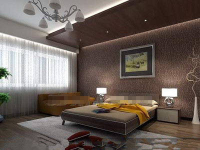 Comfortable and generous brown bedroom
