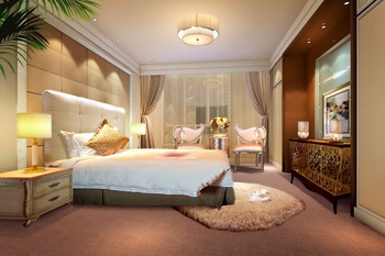 Modern luxury spacious bedroom