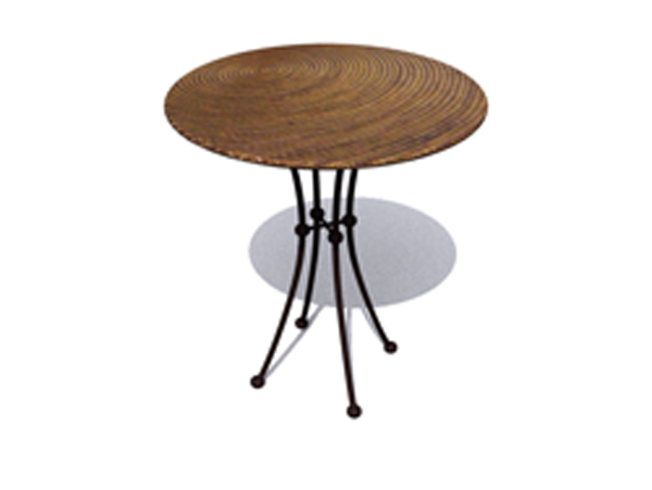 European elegant small round table