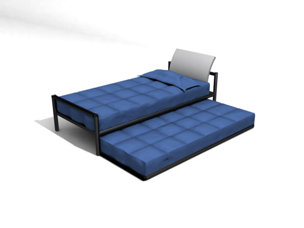 Modern and stylish blue bed
