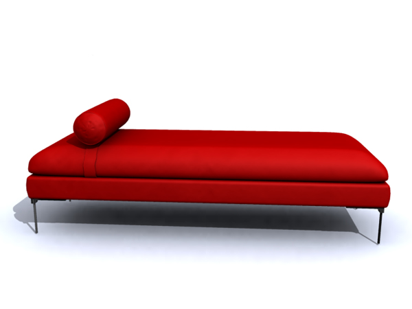 Simple and elegant modern big red bed