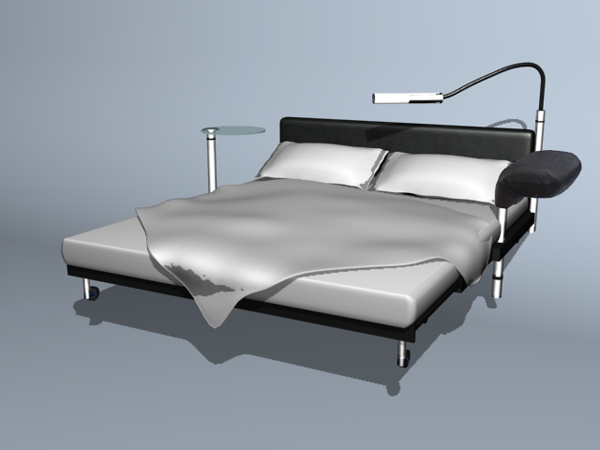 European fashion style double bed