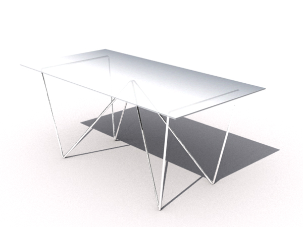 European style white glass personalized long table