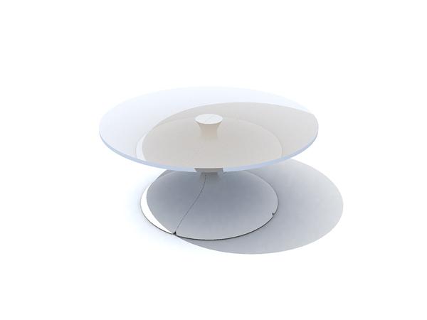 European White Dwarf glass round table