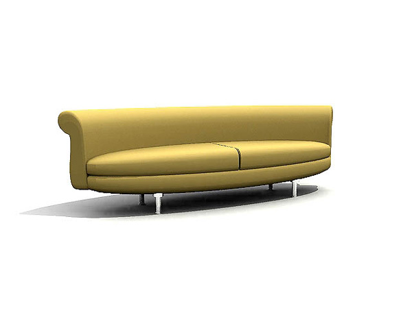 European style sofa yellow arc