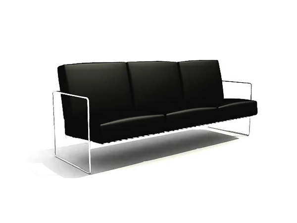 Chinese black rectangular sofa