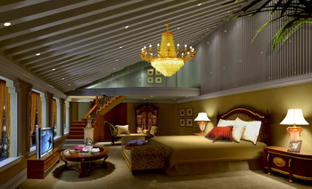 Luxury golden thermocline bedroom
