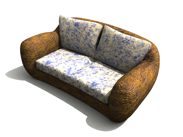 Chinese wooden rattan sofa chair