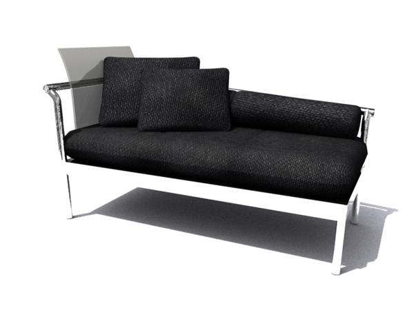 European style sofa chair black