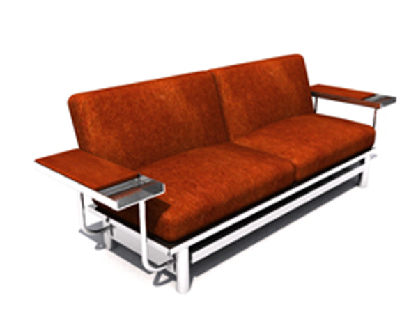 European fashion brown sofa