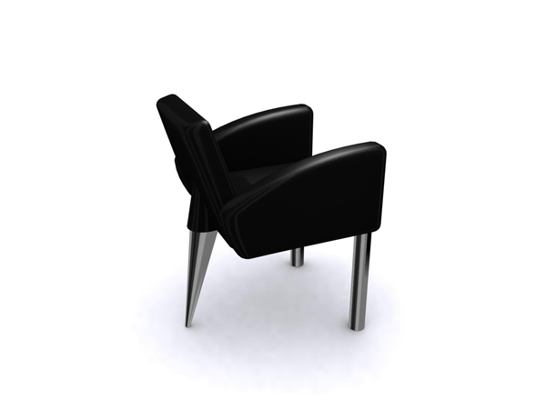 European fashion style black single sofa chair