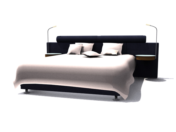 Modern style double bed