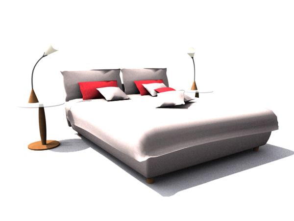 Modern minimalist home bed
