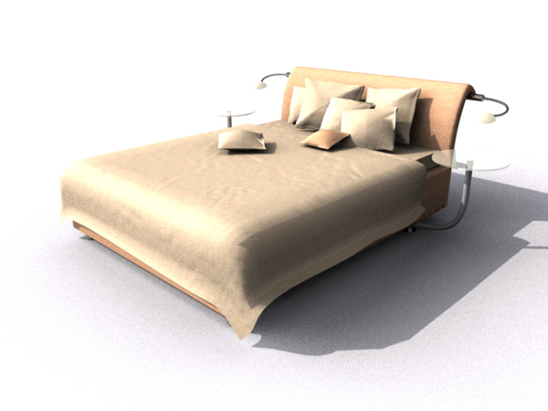 Simple home bed modern fashion