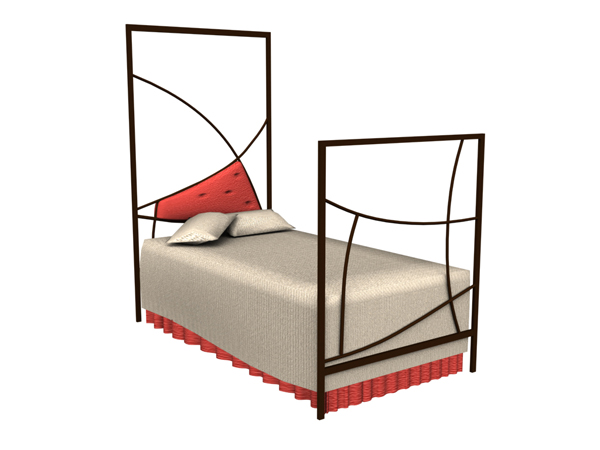 Modern wrought iron bed
