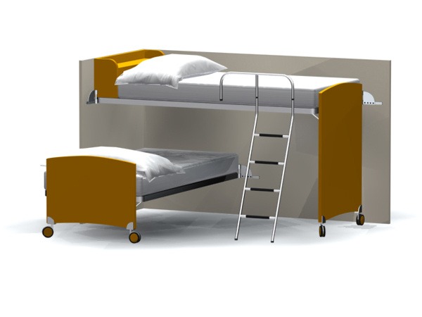 A simple bunk beds modern fashion