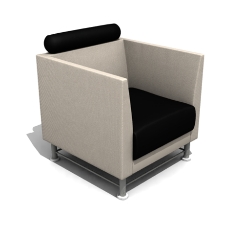 Fashion square cloth art sofa 3D models