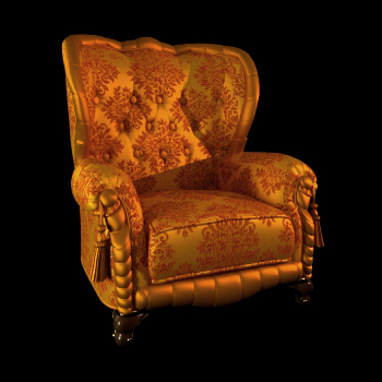 Russia single golden sofa chair 3D models