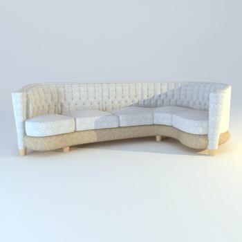 Many public sofa cloth art 3D models