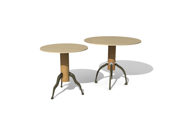 Round triangular table