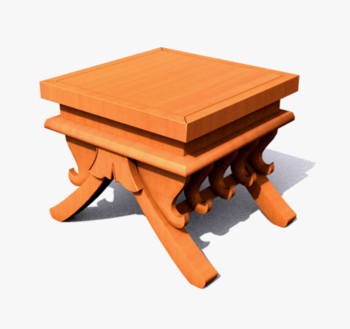 Square real wood DiaoYi tea table 3D models