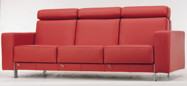 Red leather people sofa 3D models