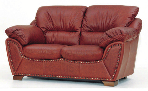 Ou wine double soft sofa 3D models