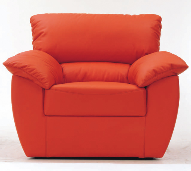 Red single soft sofa 3D models (including material)
