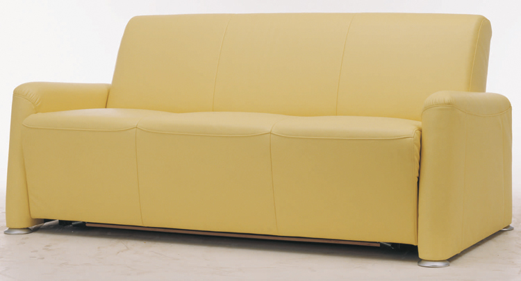 Widened soft yellow fabric over the sofa 3D model (including materials)