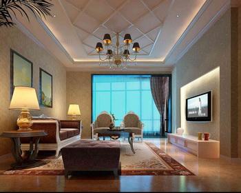 Bright floor-to-ceiling windows living room