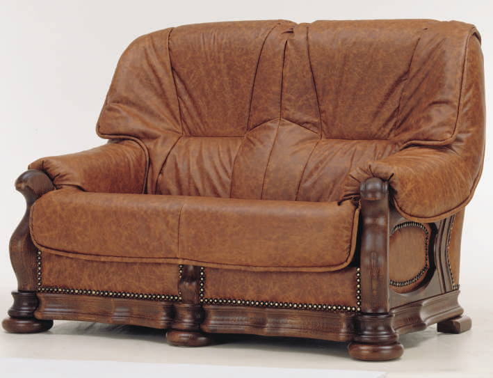 European cowhide double sofa 3D models