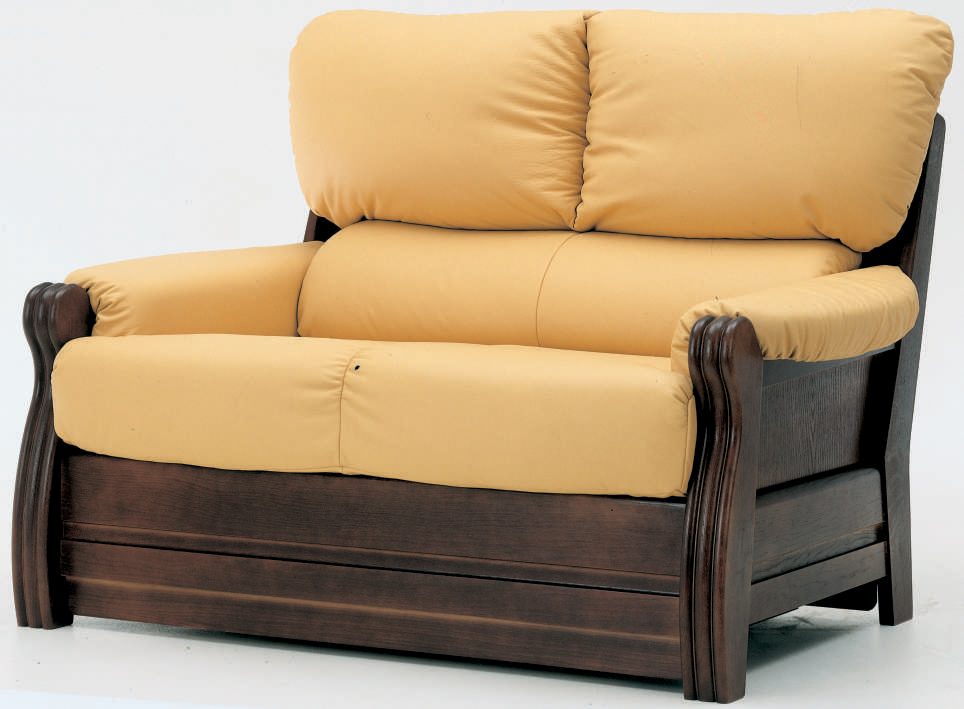 Yellow cloth art sofa wood bottom double soft 3D models (including material)