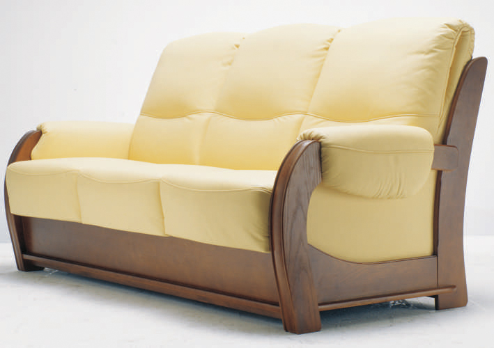 Inclined backrest wood base multiplayer cloth art sofa 3D models (including material)
