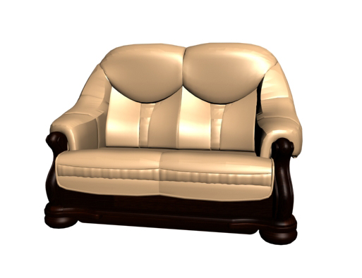 Restoring ancient ways is aureate woodiness double sofa chair 3D models