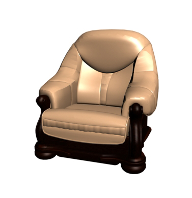 Restoring ancient ways of woodiness single person sofa chair golden 3D models