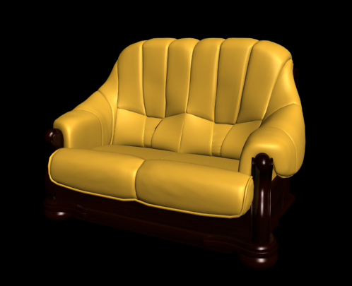 Restore ancient ways classic yellow single leather chair 3D models