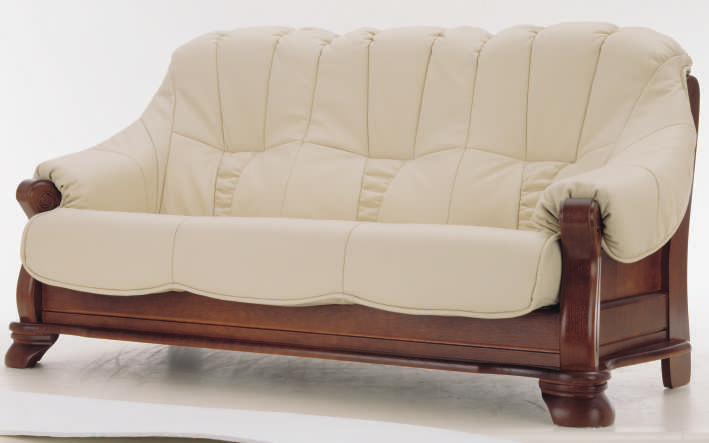 European white people wood bottom leather sofa 3D models
